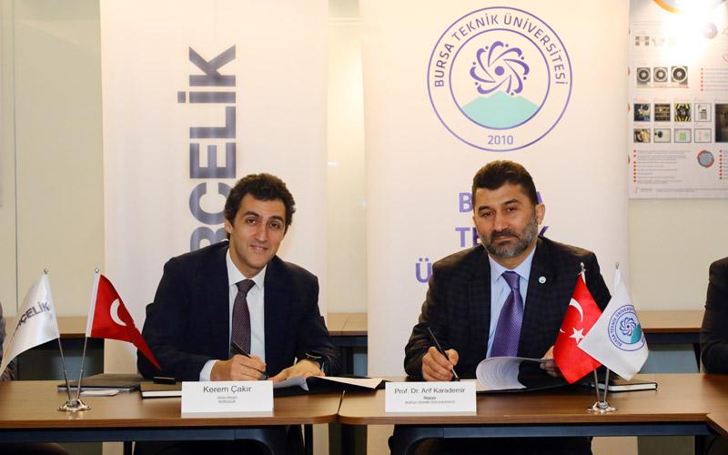 Borçelik ve Bursa Teknik Üniversitesi Arasında İş Birliği Protokolü İmzalandı